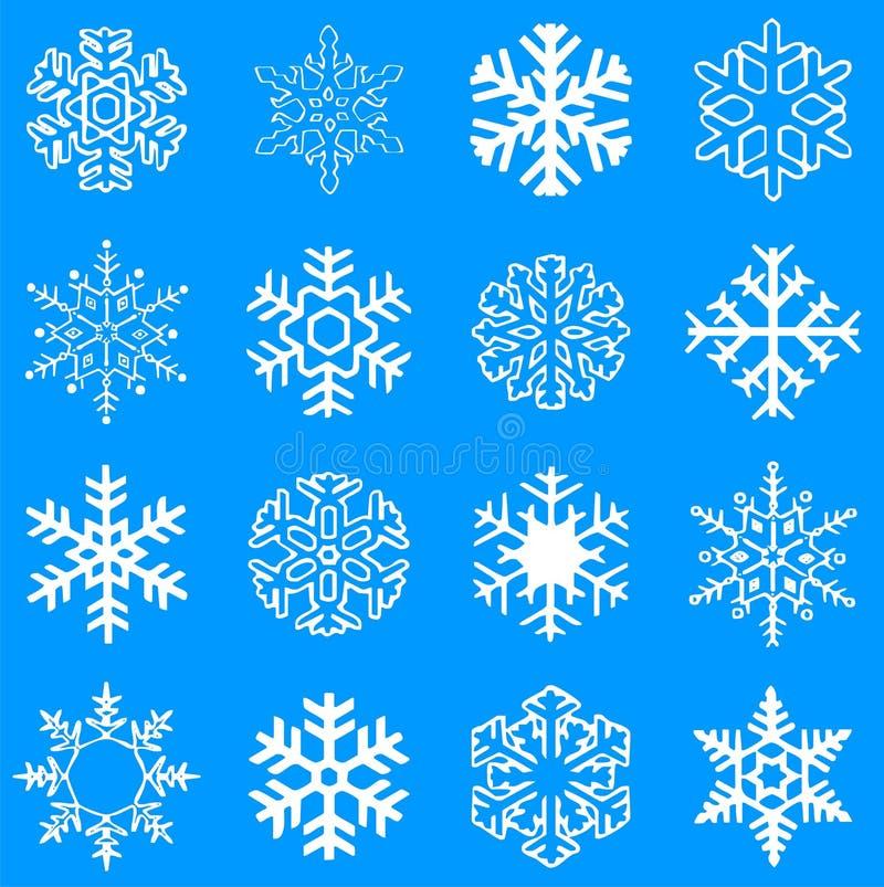Flocos de neve do vetor fotografia de stock royalty free