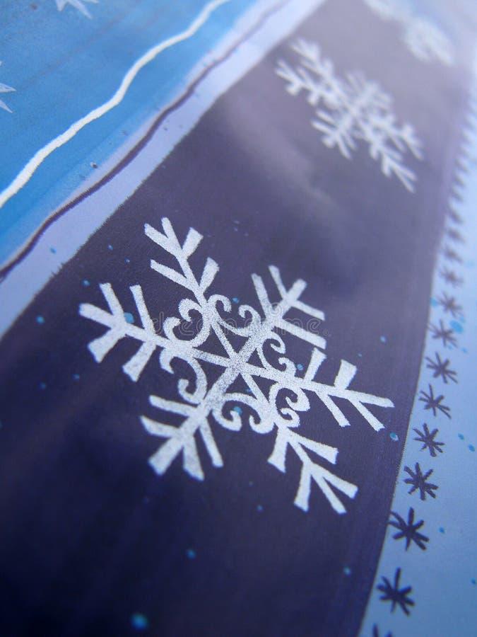 Flocos de neve e estrelas imagens de stock royalty free