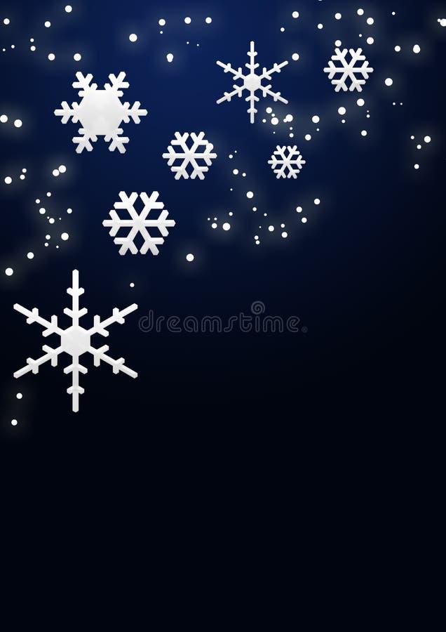 Flocos de neve e estrelas