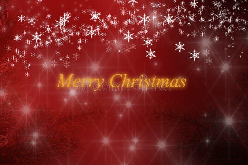 Flocos de neve e estrelas do fundo do Feliz Natal fotografia de stock royalty free