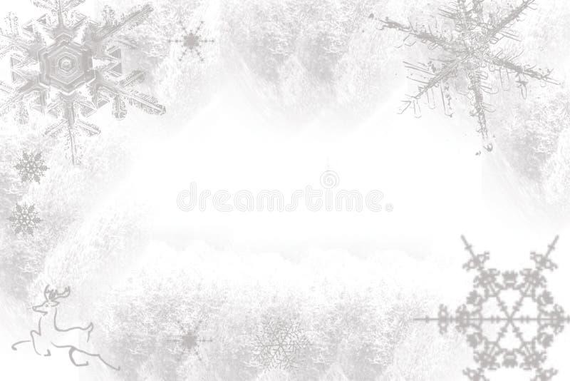 Flocos de neve em um fundo branco imagens de stock royalty free