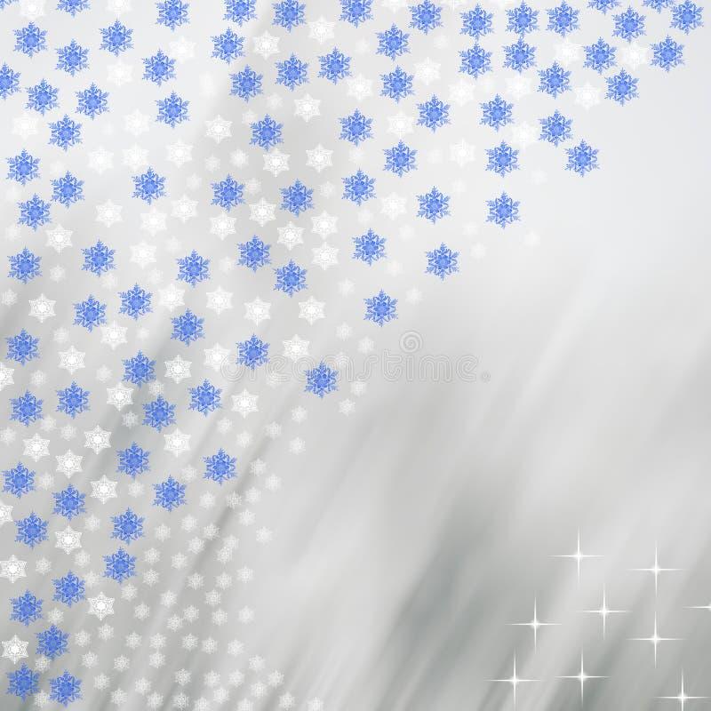 Flocos de neve em um fundo colorido obscuro ilustração stock