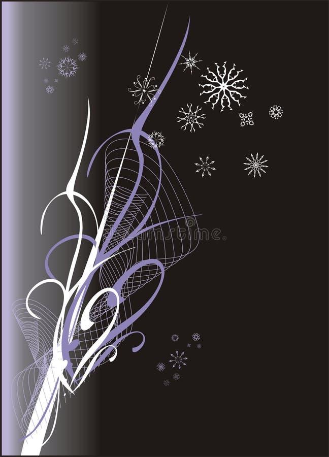 Flocos de neve. Fundo creativo ilustração royalty free