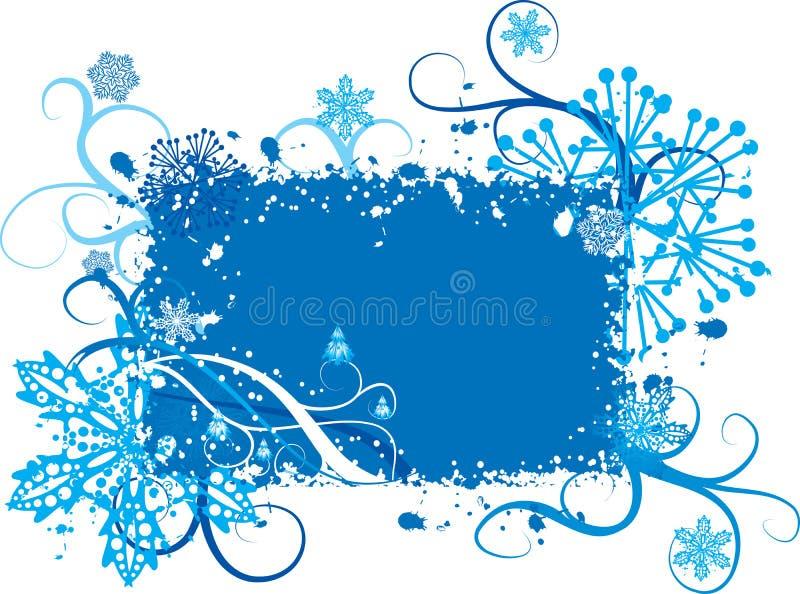 Flocos de neve fundo de Grunge, vetor ilustração royalty free
