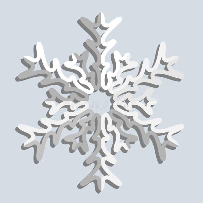 Flocos de neve. Ilustração do vetor. ilustração royalty free