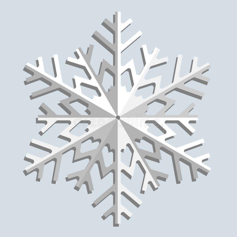Flocos de neve. Ilustração do vetor. ilustração do vetor