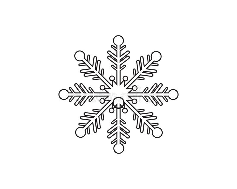 Flocos de neve Logo Template ilustração royalty free