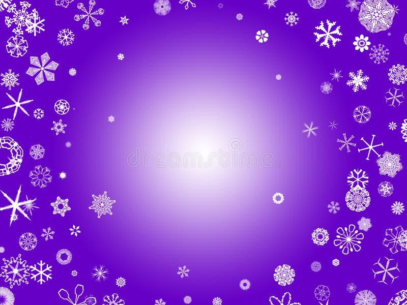 Flocos de neve - roxo ilustração do vetor