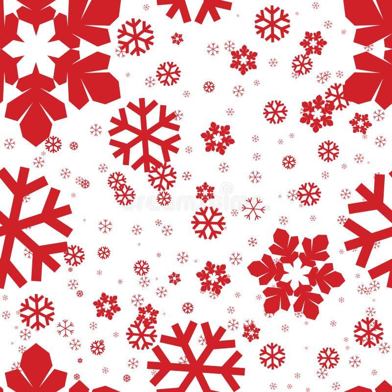Flocos de neve sem emenda ilustração do vetor