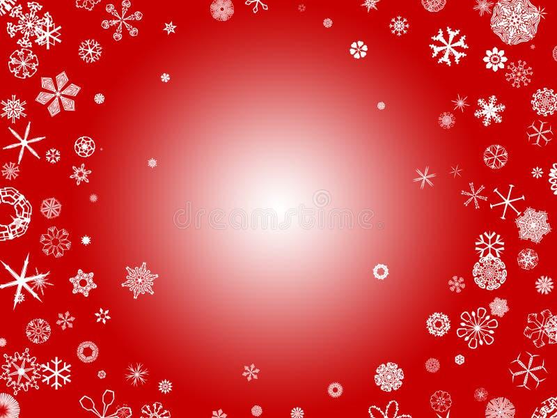 Flocos de neve - vermelho ilustração stock