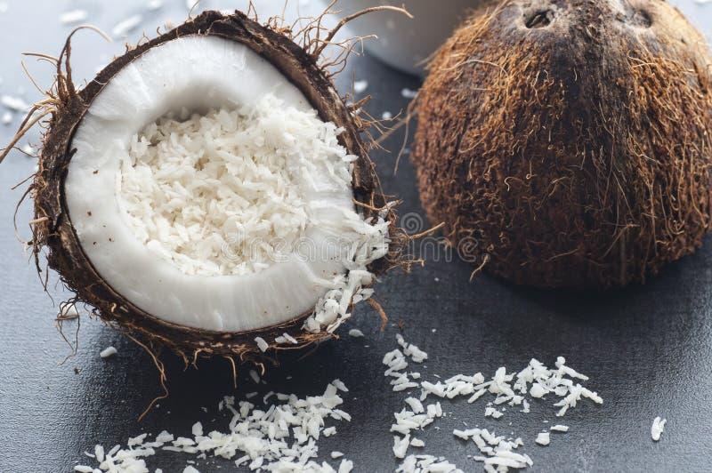 Flocos do coco imagem de stock