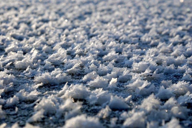Flocos do gelo imagem de stock