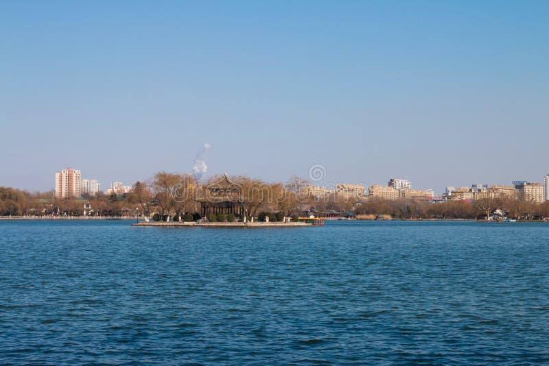 Flod av Daming Lake royaltyfri fotografi