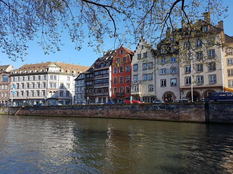 Flod av Strasbourg arkivbild