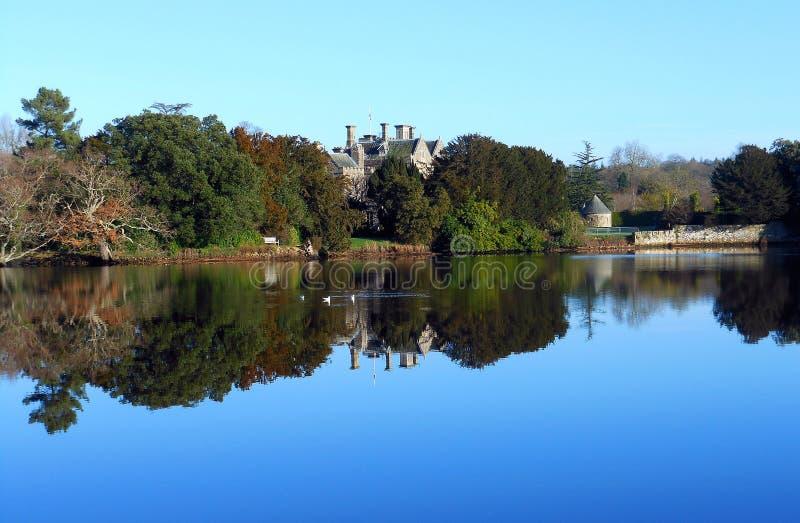 Flod Beulieu i den nya skogen hampshire royaltyfri bild