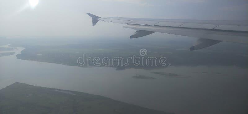 Flod Bhramhaputra, luit india royaltyfri bild