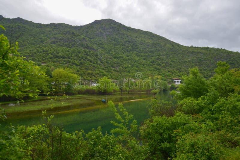Flod Crnojevic i Montenegro arkivfoto