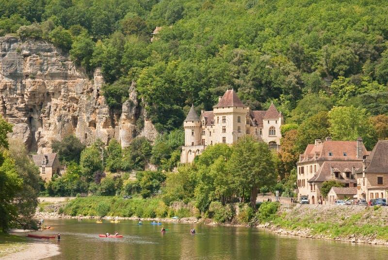 Flod Dordogne, Frankrike arkivfoton