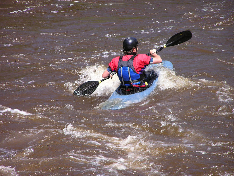 flod för 3 kayaker arkivfoton