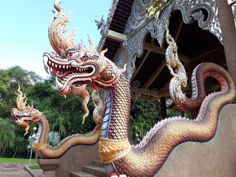 Flod för djur för legend för NagaNaakee litteratur royaltyfria bilder