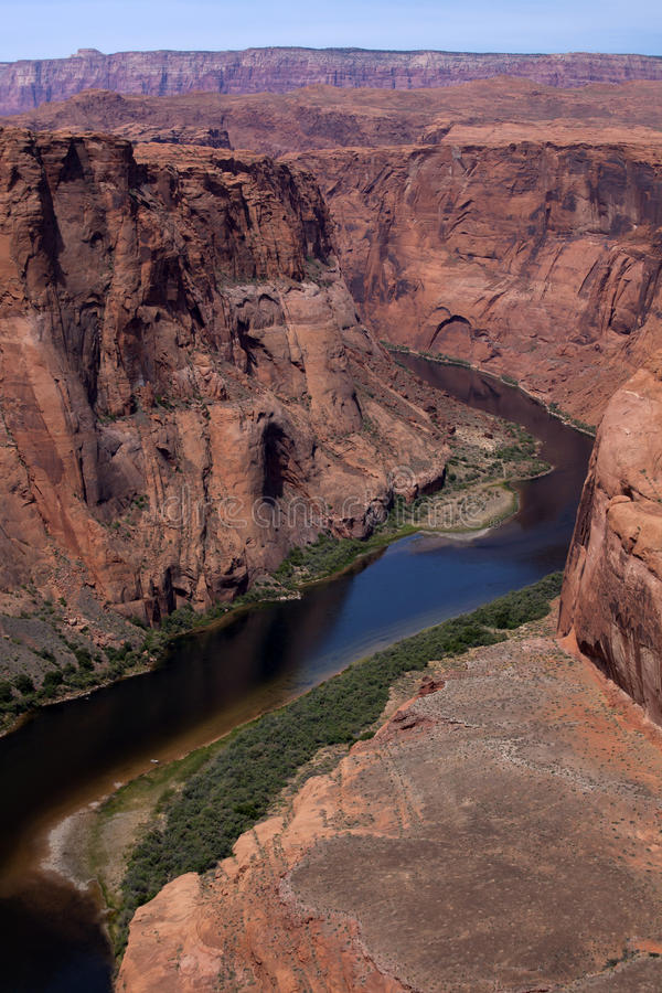 flod för kanjoncolorado tusen dollar fotografering för bildbyråer