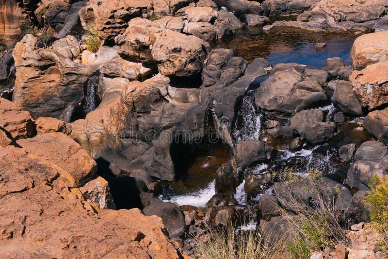 flod för reserv för blydekanjonnatur arkivbild