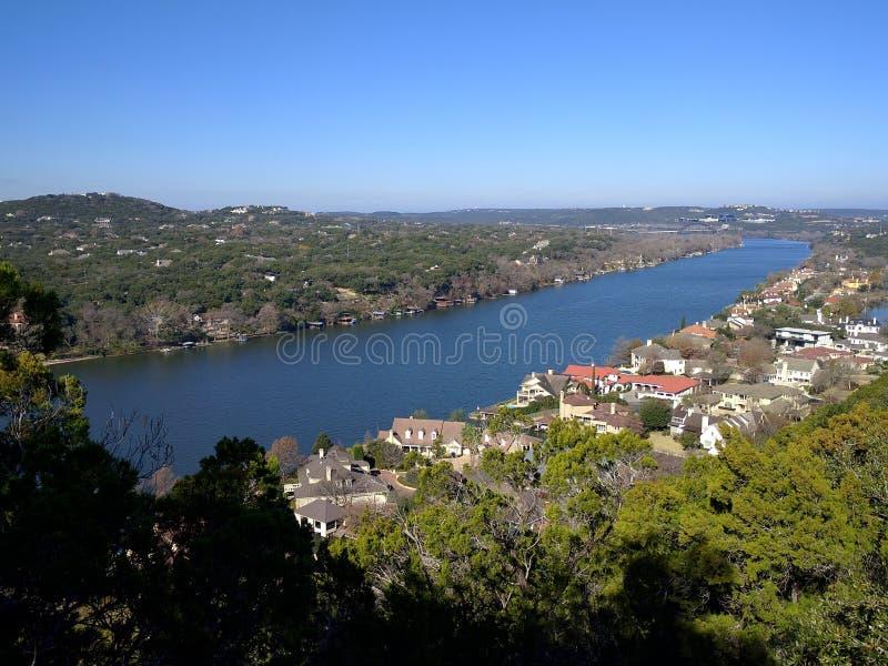 Flod i Austin Texas fotografering för bildbyråer