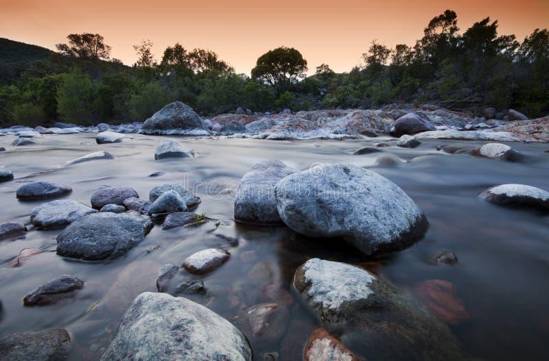 Flod i Corsica arkivfoton