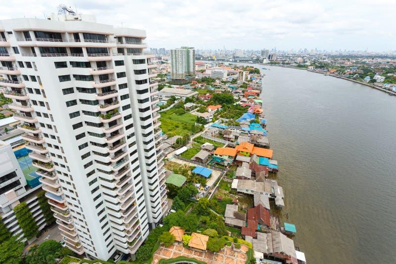 Flod i den Bangkok staden arkivbilder
