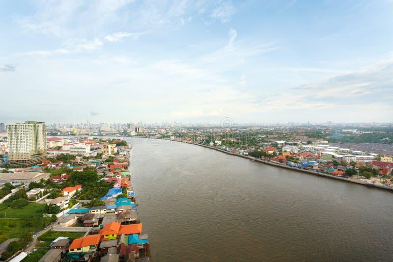 Flod i den Bangkok staden fotografering för bildbyråer