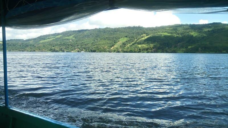 Flod i djungeln royaltyfri fotografi