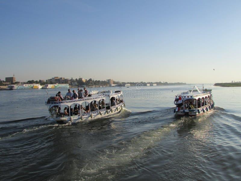 Flod i Egypten arkivbild