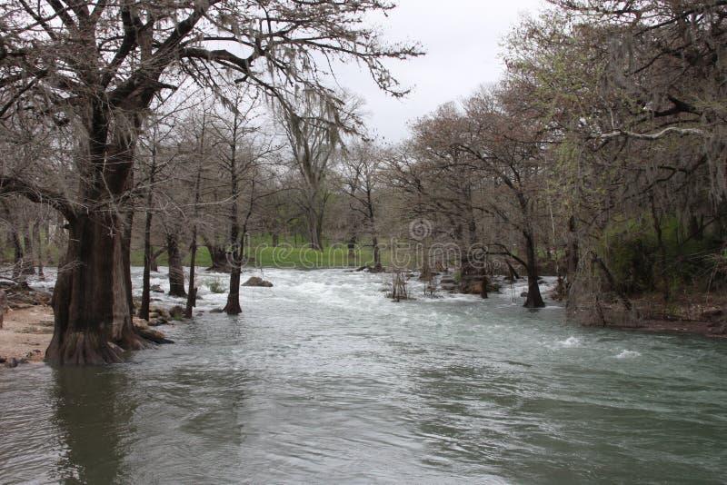 Flod i Gruene Texas fotografering för bildbyråer