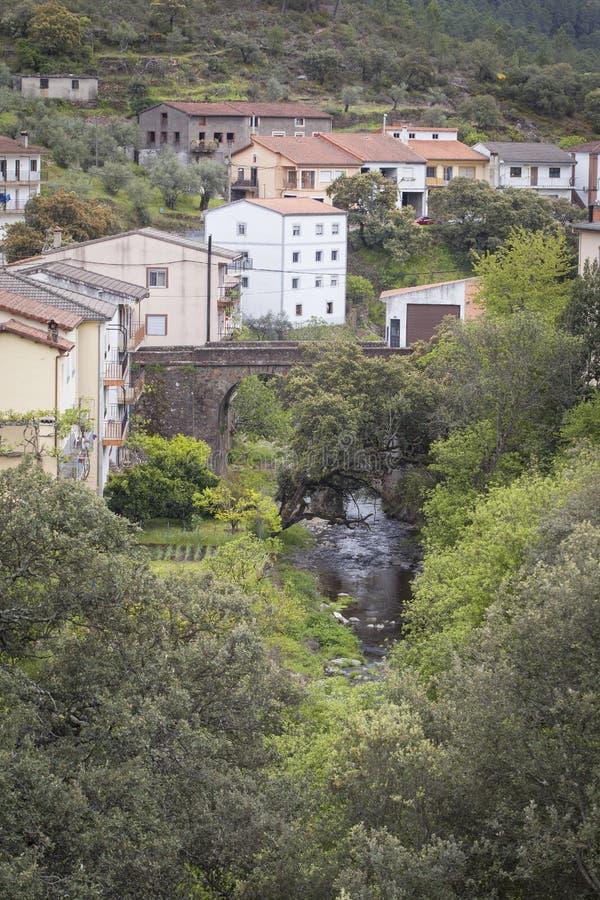 Flod i Las Hurdes, Extremadura region arkivfoton