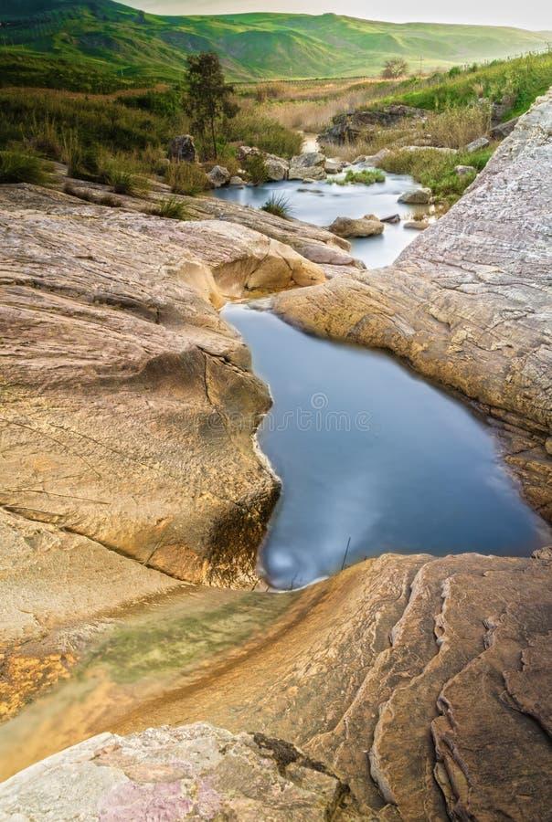 Flod i Sicilien fotografering för bildbyråer