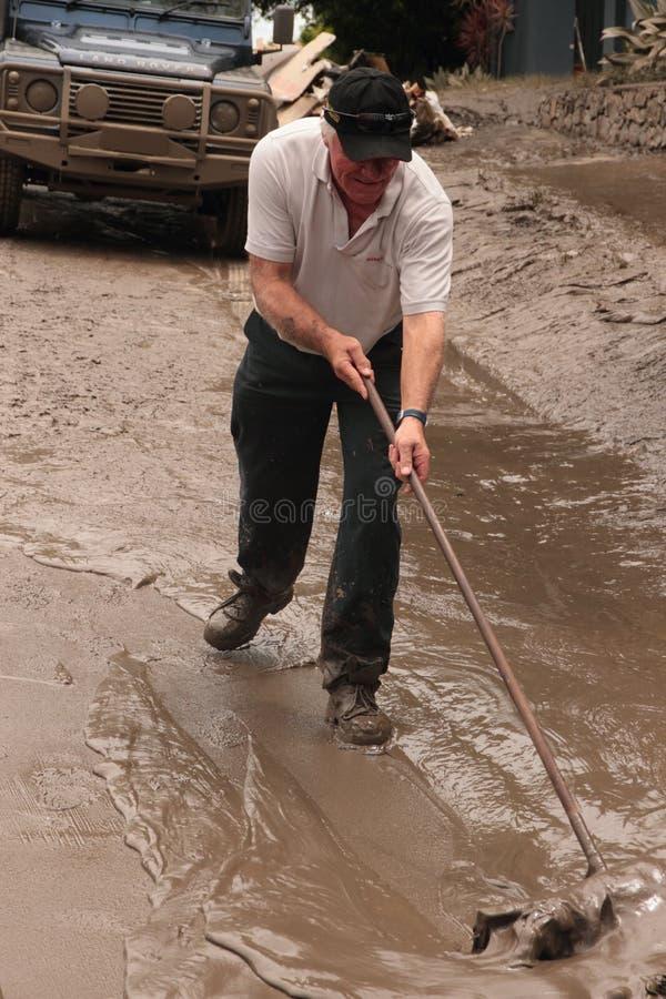 flod jan för 14 Australien brisbane royaltyfri foto
