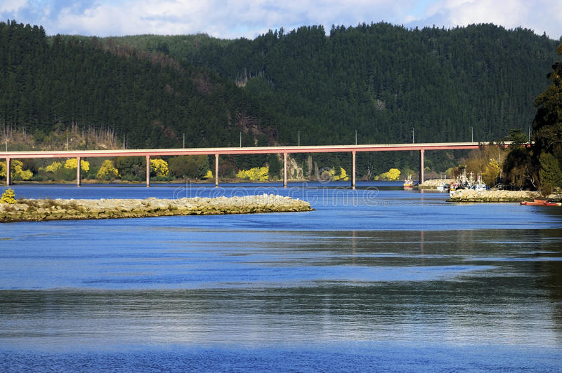Flod Maule, Chile arkivbild