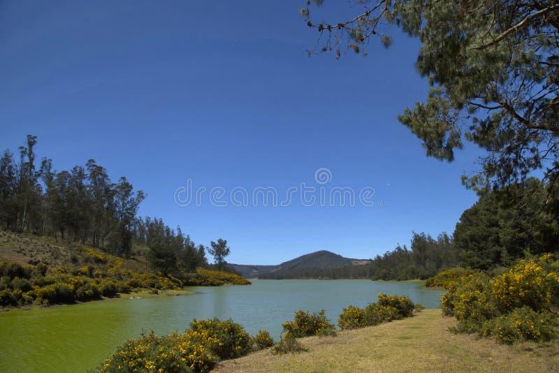 Flod med lugnt vatten, Sawantwadi fotografering för bildbyråer