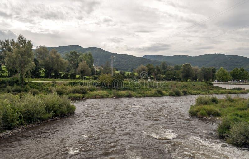 Flod Segre royaltyfria bilder