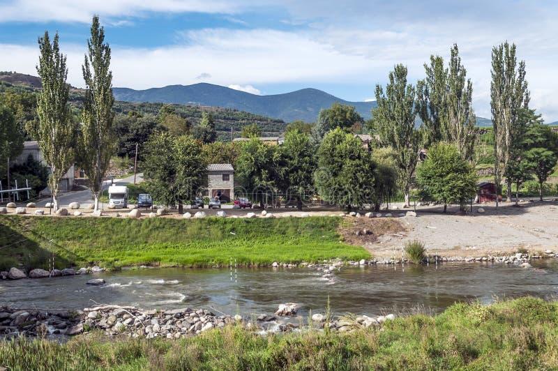 Flod Segre royaltyfri fotografi