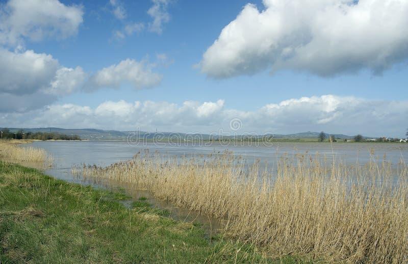 Flod Severn på övreFramilode arkivbilder