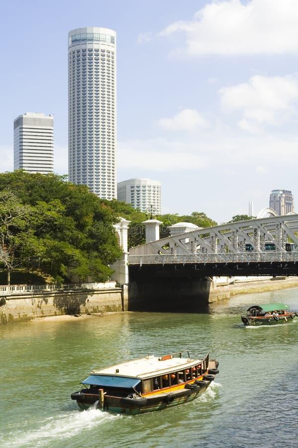 flod singapore arkivbild