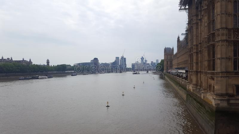Flod thames london royaltyfri bild