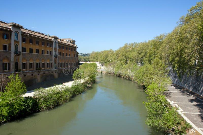 flod tiber fotografering för bildbyråer