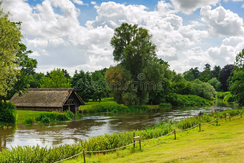 FlodAvon landskap arkivfoton