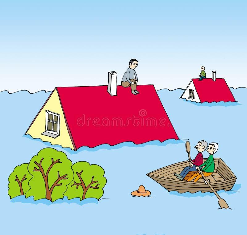 flodbild stock illustrationer