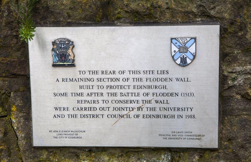 Flodden vägg i Edinburg arkivbilder