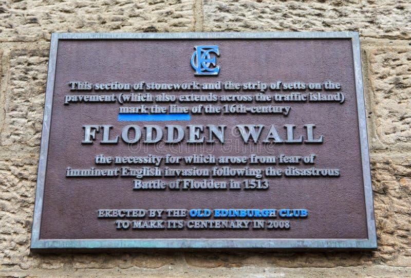 Flodden väggplatta i Edinburg arkivbilder