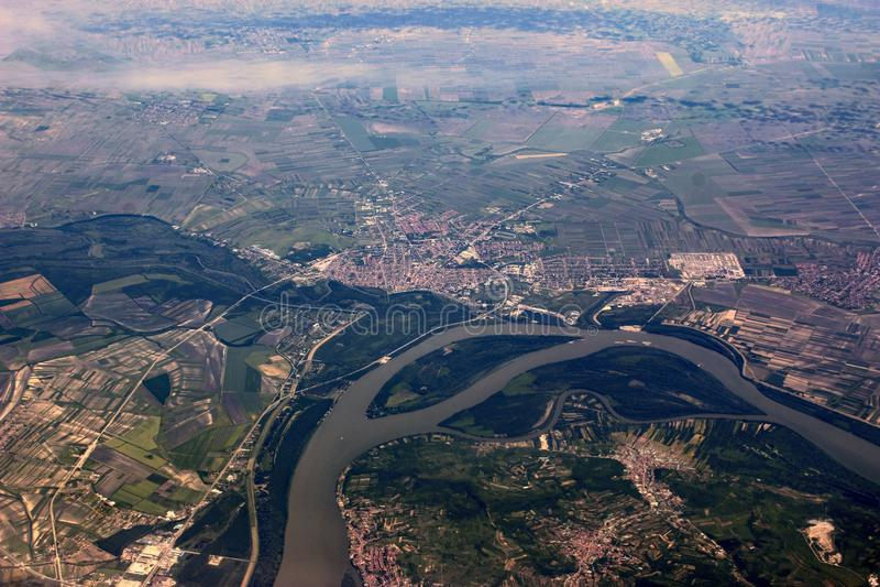 FlodDonau, Hundary fotografering för bildbyråer