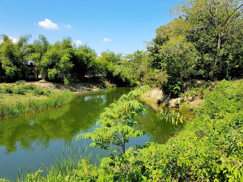 Floden Camu i villan Montellano nära Puerto Plata arkivfoto